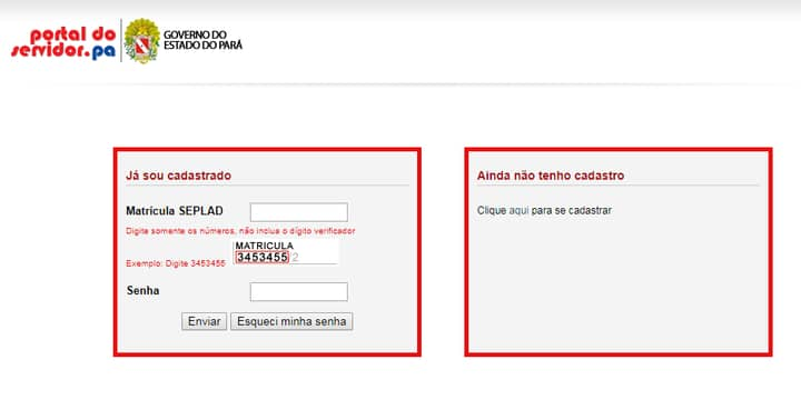 Portal do Servidor PA: Contracheque