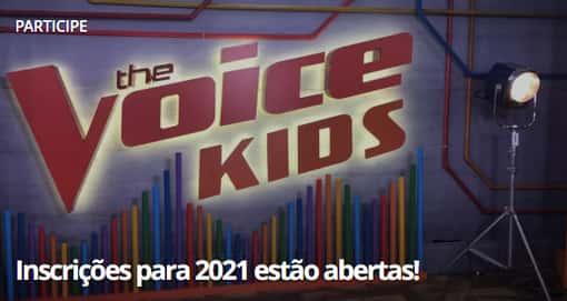 inscrição the voice kids 2021 abertas