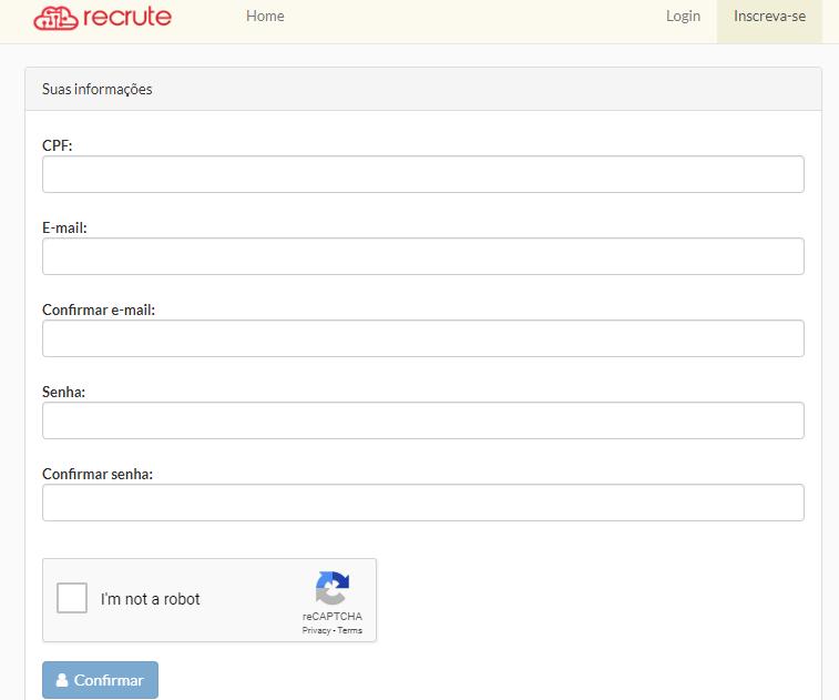 Acesse o site da Condor ao clicar em Recrute – Quero me candidatar