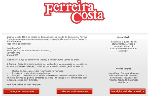Ferreira Costa trabalhe conosco