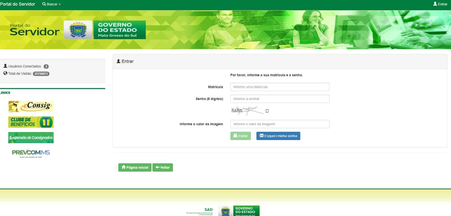 Portal do Servidor MS