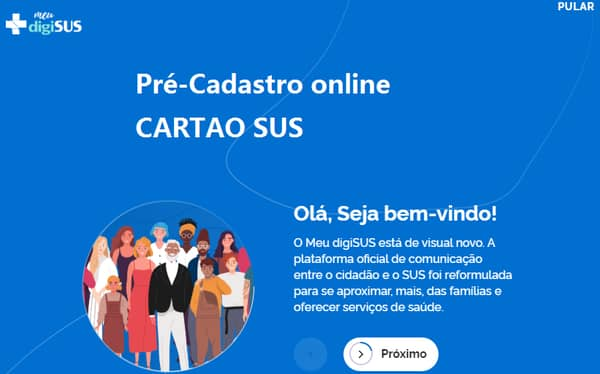 pré-Cadastro online