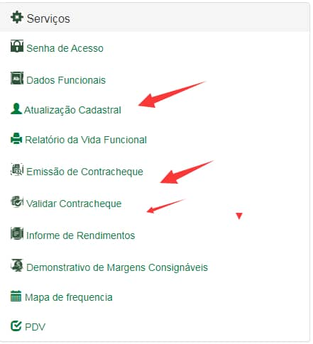 Outros serviços do Portal do Servidor MS