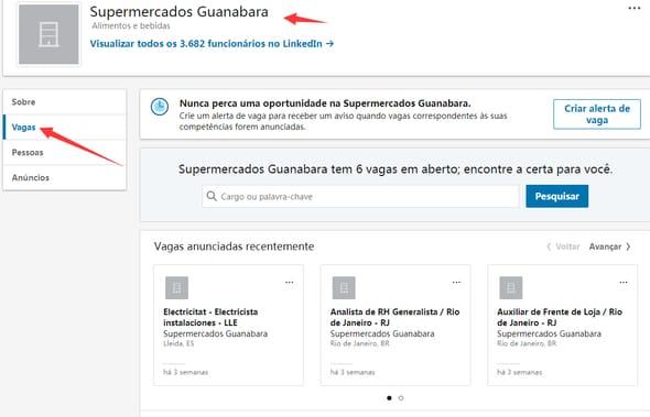 consultar a vagas no Guanabara