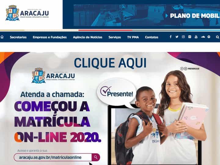 matrícula aracaju 2021 online
