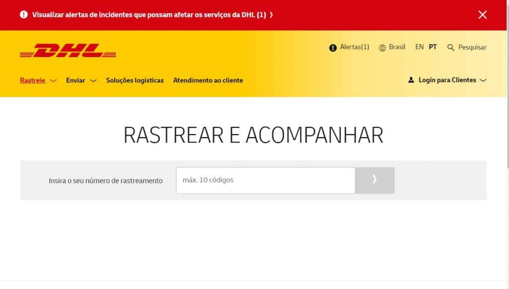 DHL Rastreio