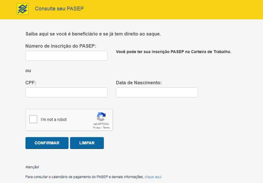 consultar PASEP 2021