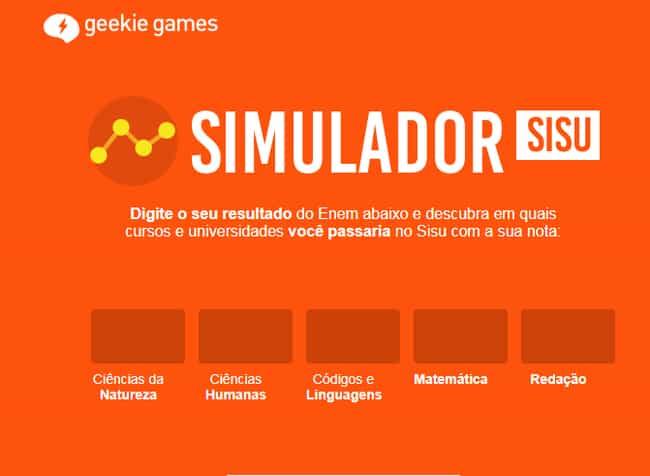 Simulador Geekie Games Sisu 2021