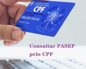 consultar pasep pelo cpf