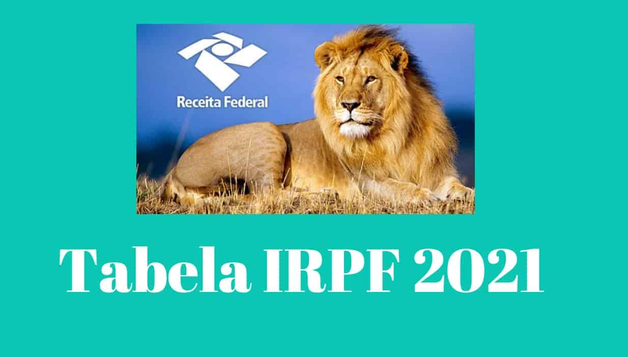 Tabela IRPF 2021 – Alíquotas Imposto de Renda 2021