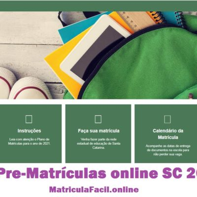 Pré Matrícula SC online