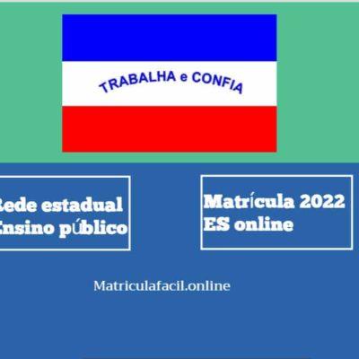 Matrícula 2022 ES online