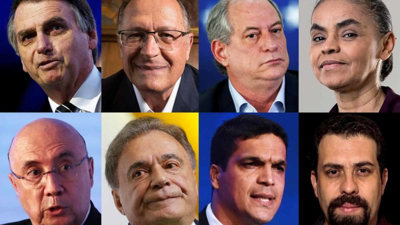 Número dos candidatos a presidente