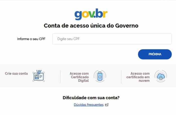 login com gov.br