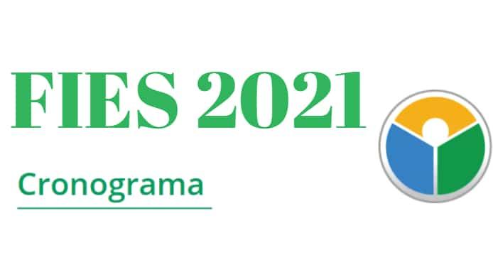 Cronograma Fies 2021