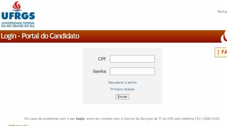 portal de candidato UFRGS