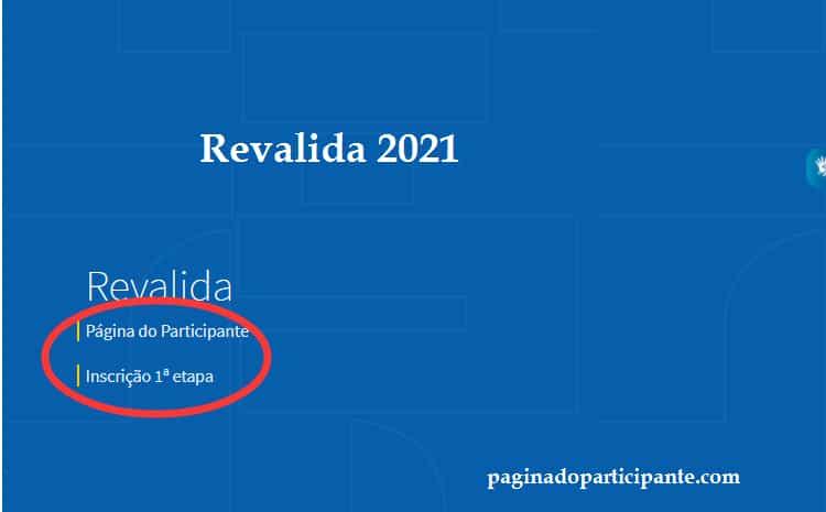 Inscrição no Revalida 2021