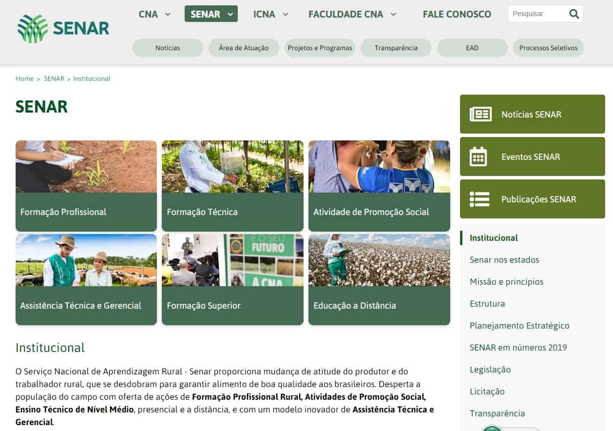 site oficial senar etec